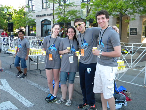 Volunteers at Rock the Night 5k