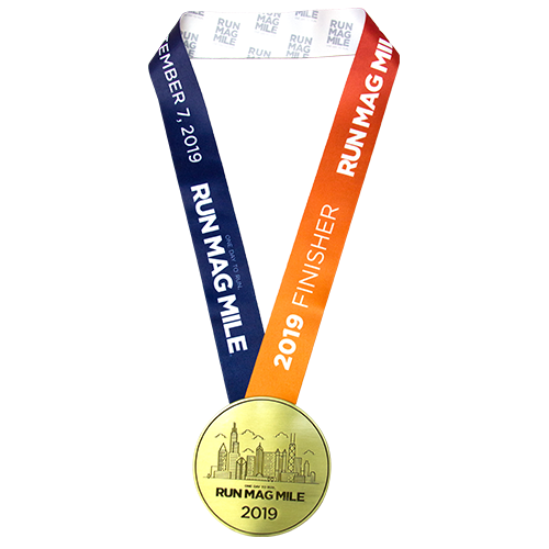 Run Mag Mile<sup>TM</sup>'s 2019 10k Finisher Medal