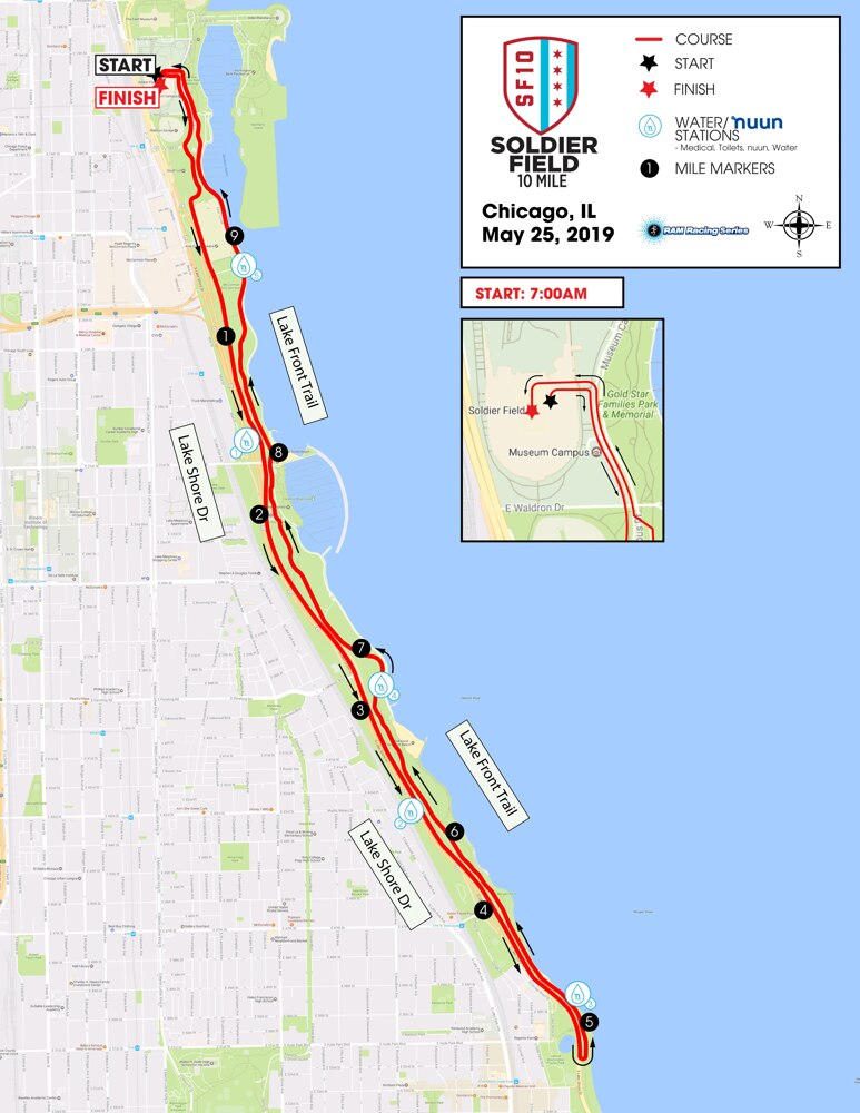 Course - Soldier Field 10 Mile