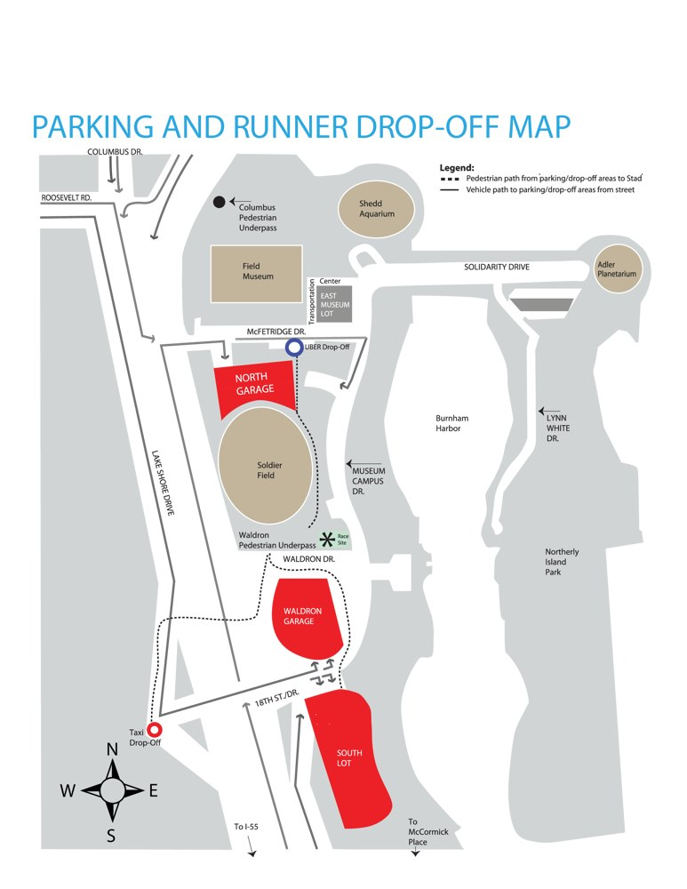 Soldier Field 10 Mile's Parking