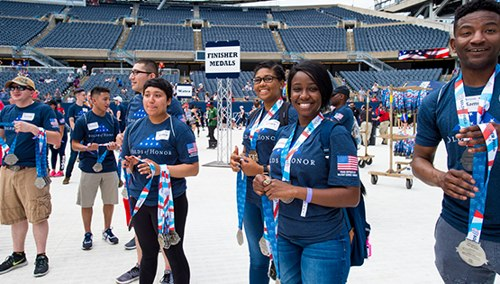 Volunteering at Soldier Field 10 Mile