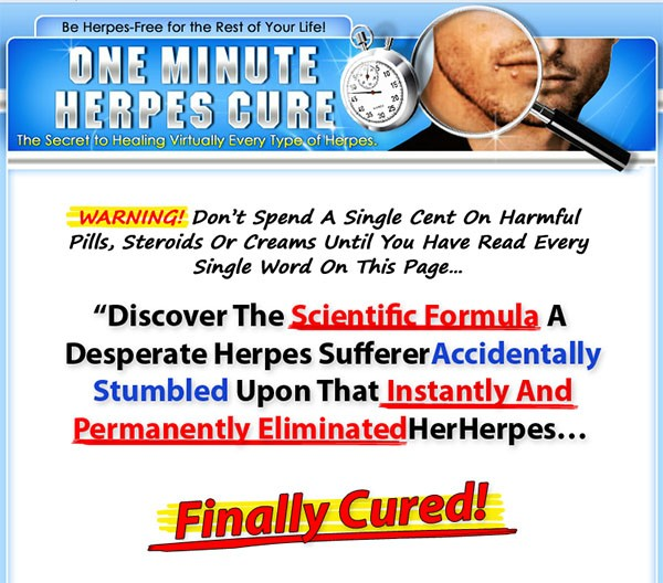 One minute herpes cure pdf xchange