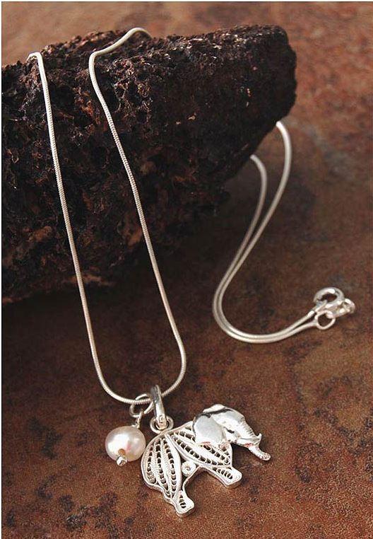 Mighty Elephant Pendant by Giuliana Valz-Gen