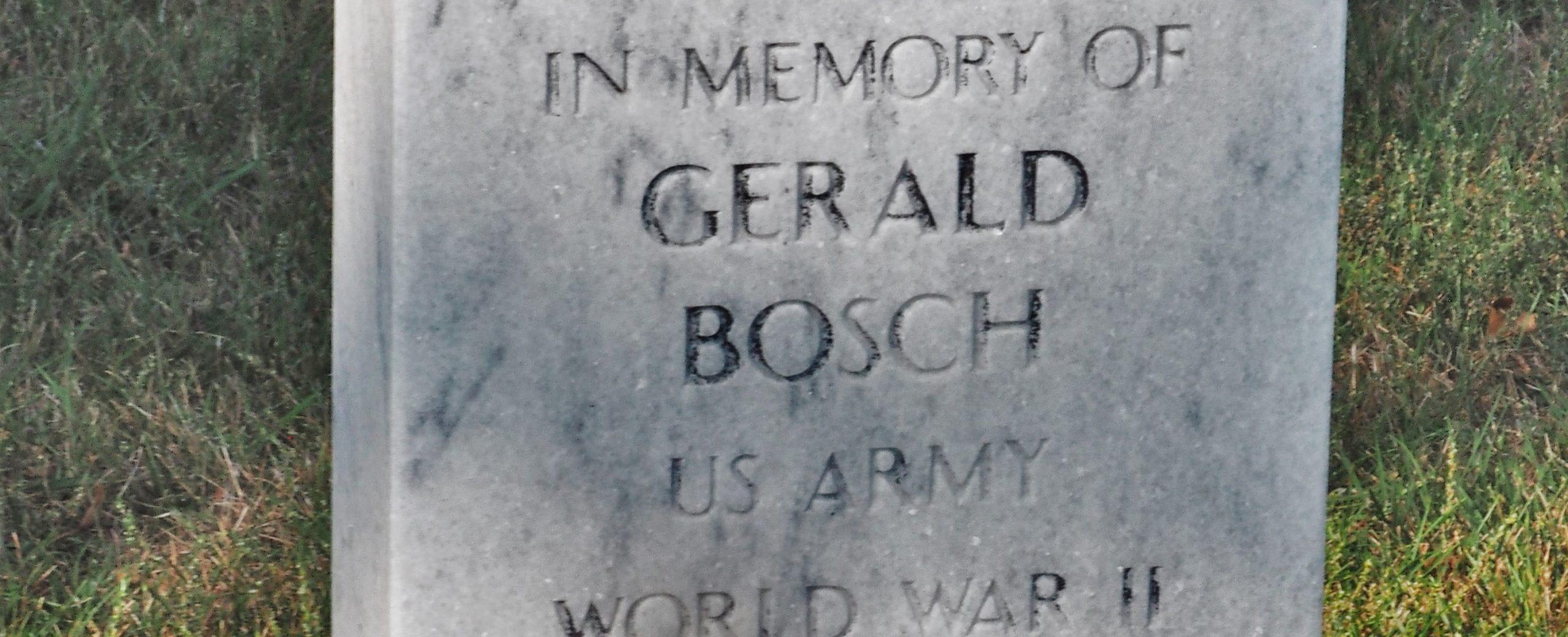 Gerald Bosch: A Life