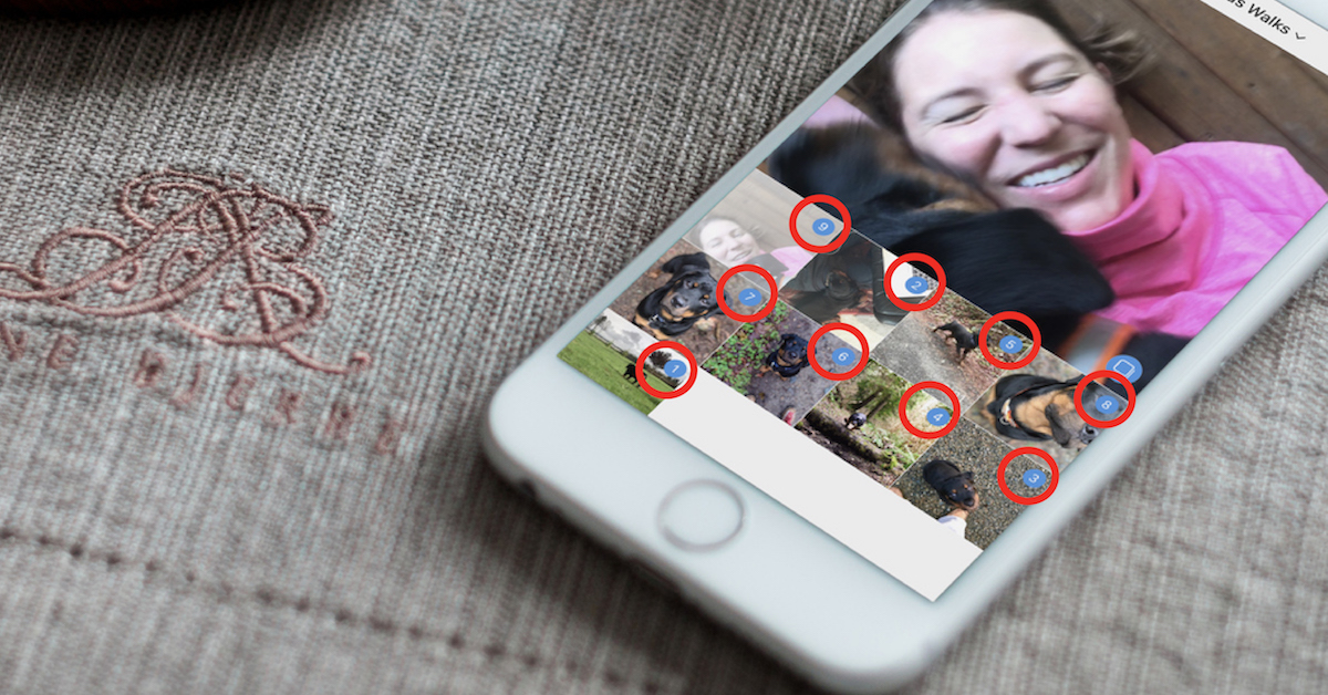 This button allows you to select multiple images. Rather than searching through your camera roll, we find it's easiest to pre-create a folder of the images you plan to use.