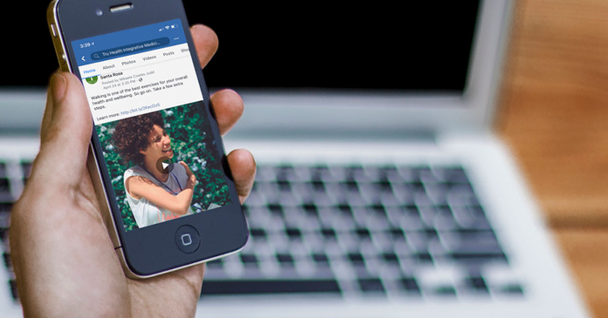 Square Facebook Video on Smartphone