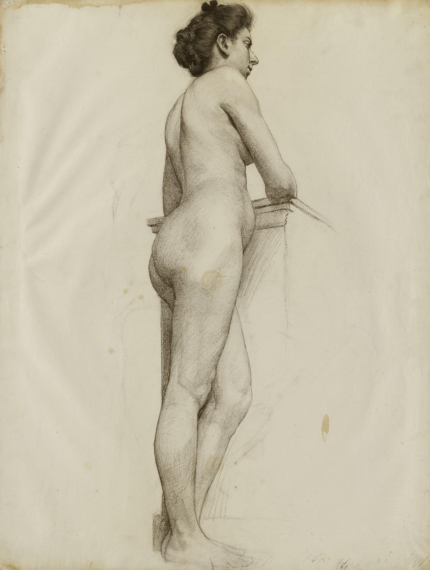 untitled (standing female nude profile) | smithsonian american art