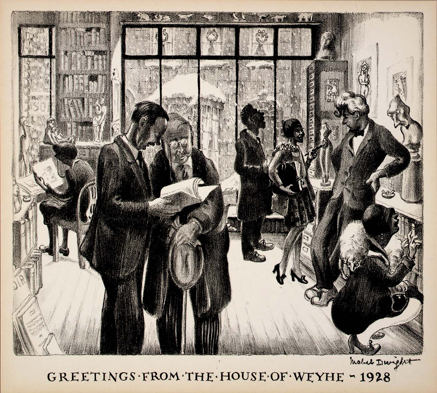Greetings From The House Of Weyhe 1928 Smithsonian American Art