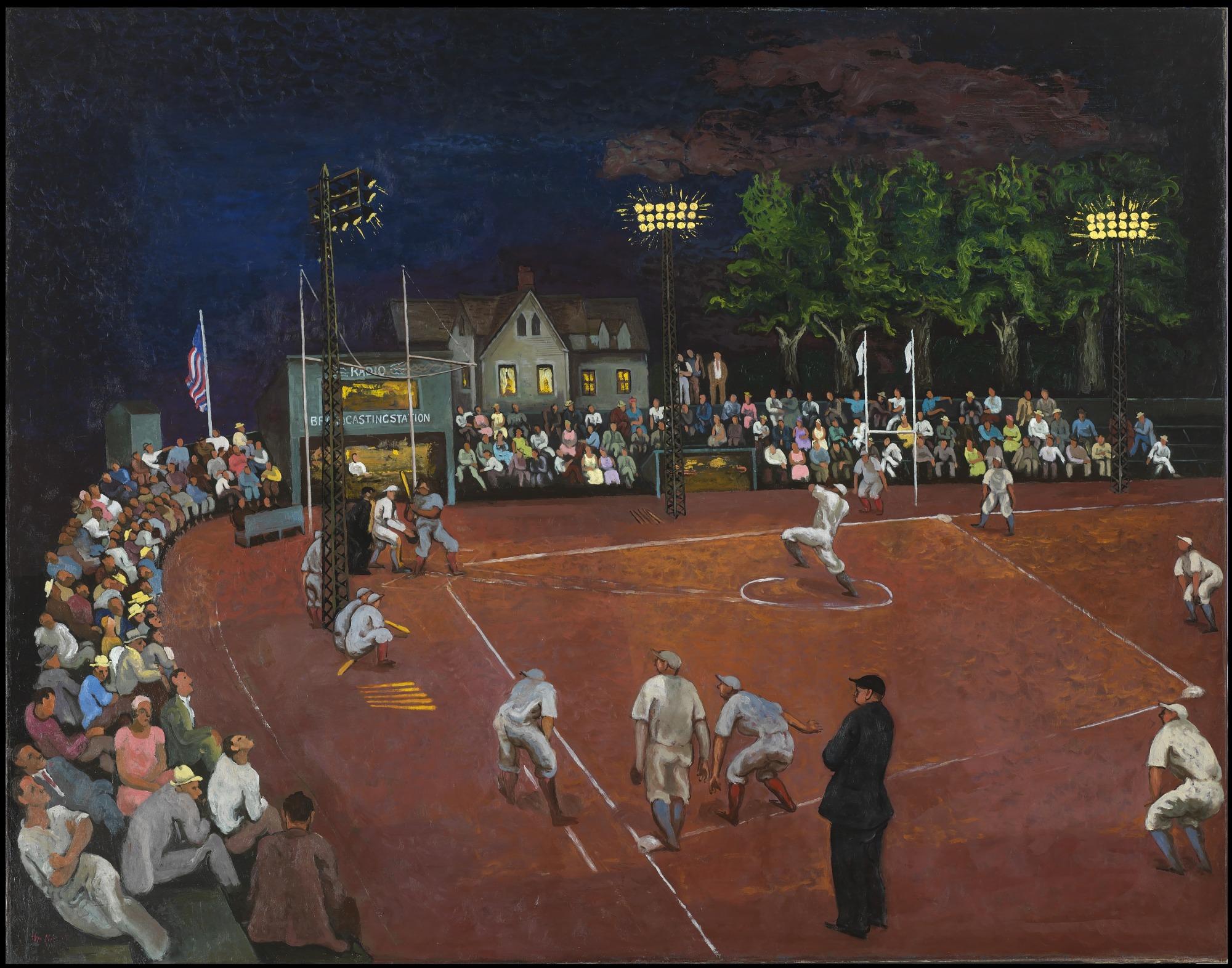 Baseball at night | smithsonian american art museum.