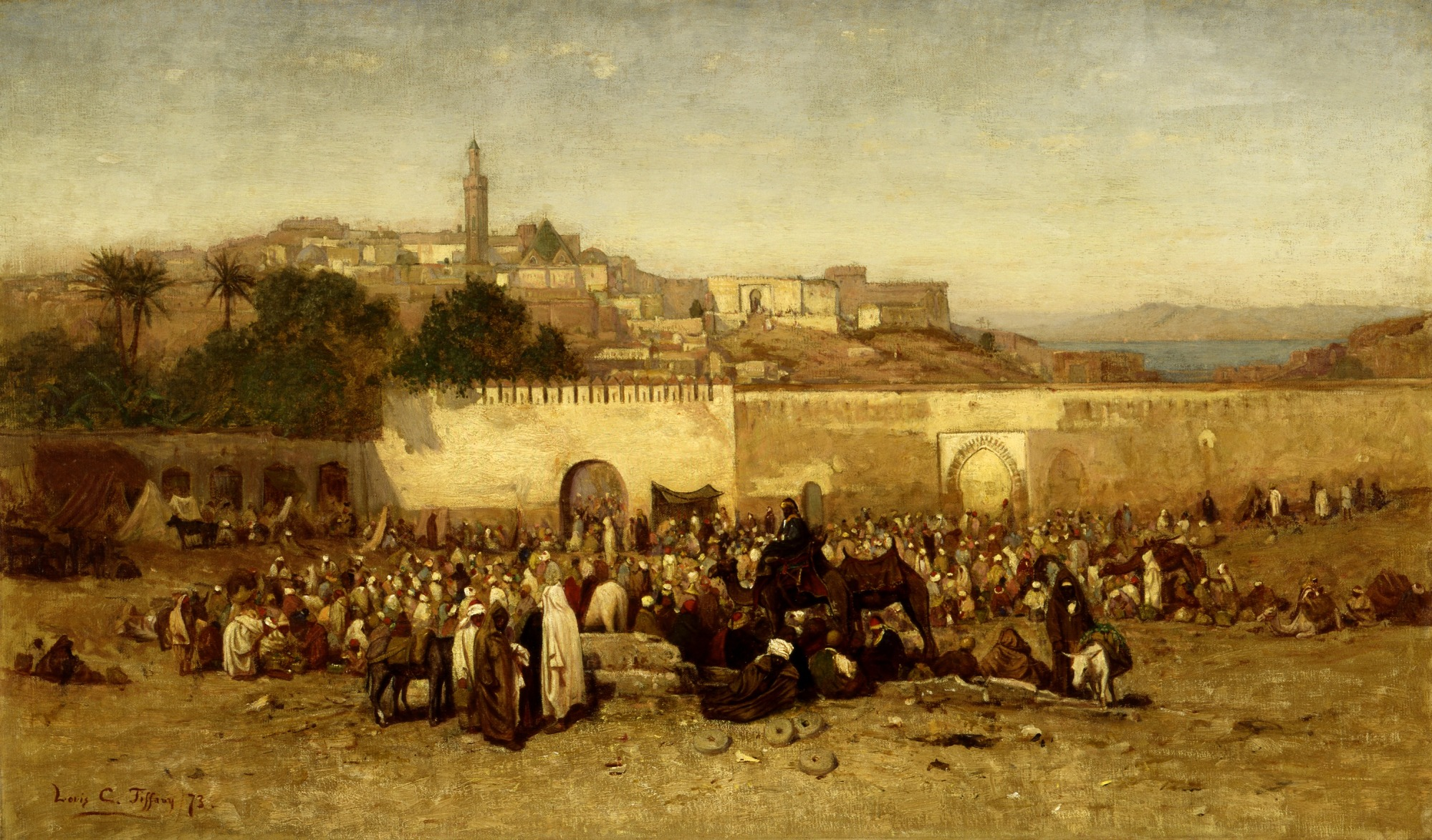 Market Day Outside the Walls of Tangiers, Morocco | Smithsonian ...