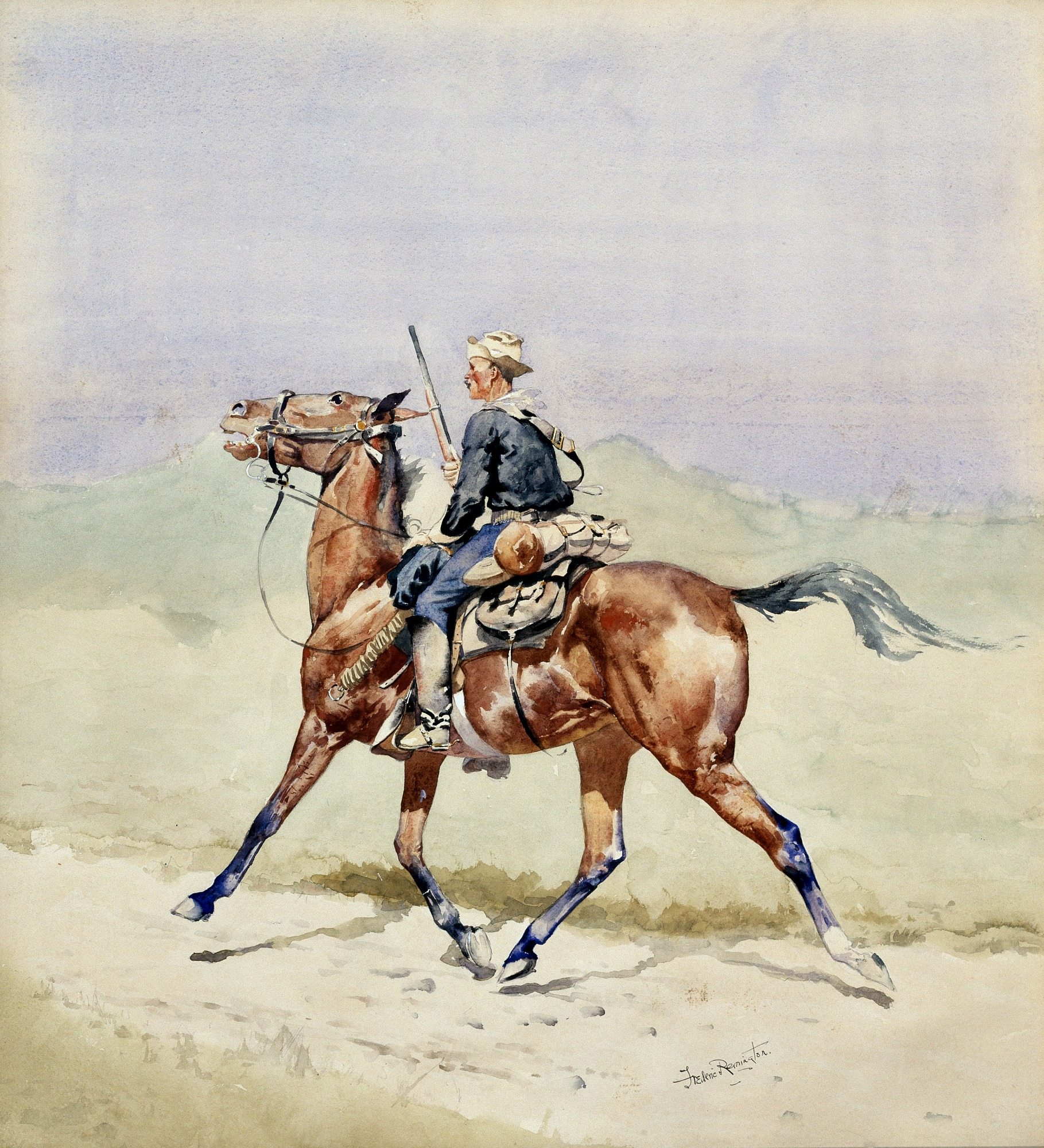 Frederic Remington NEW WESTERN ART POSTER The Advance