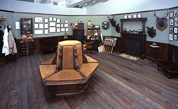 This is a photograph of an interior room shaped like an octagon.
