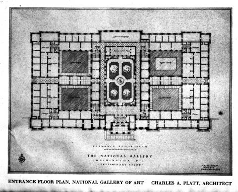 Floor Plan for Smithsonian's National Gallery of Art