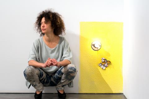 This is an image of Mika Rottenberg, the 2018 James Dicke Contemporary Artist Award winner.