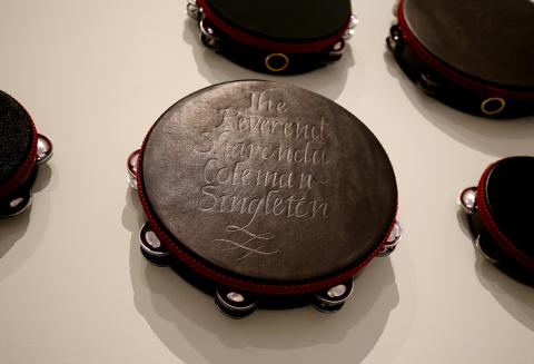 "This is a detail photograph of a tampering with a name engraved on it as a part of the artwork ""Requiem for Charleston."""