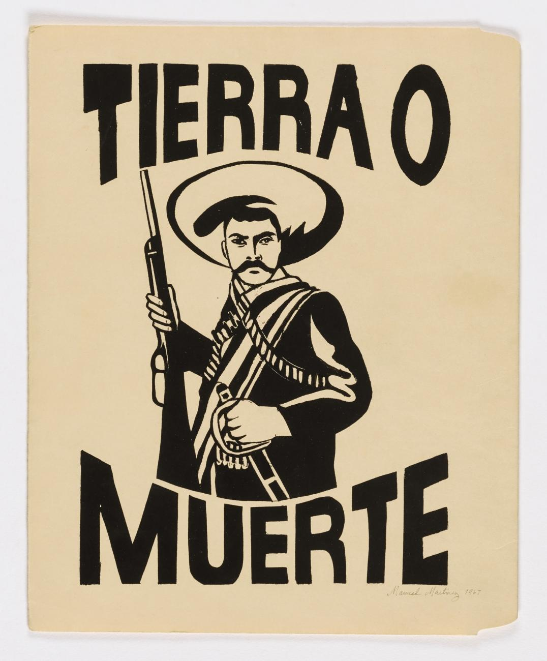 Black and white print of a Mexican Revolutionary.