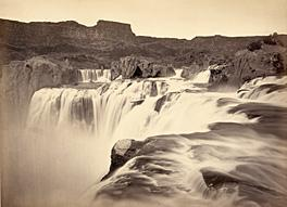 This is an albumen print of a water fall by O'Sullivan