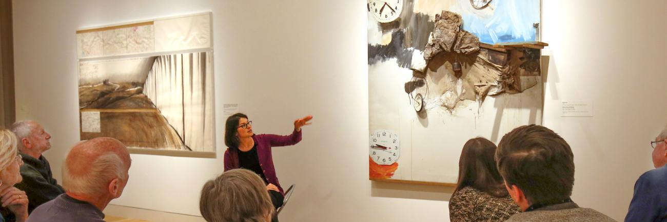 "Curator Joanna Marsh conducting ""Conversational Pieces"" program"