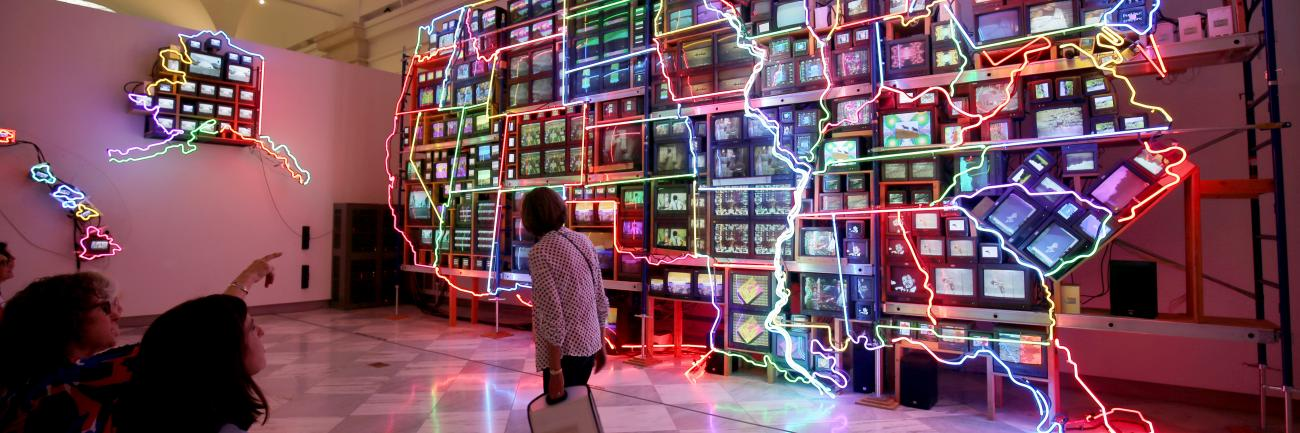 Image of Nam June Paik's Electronic Superhighway