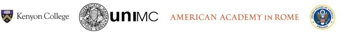 Kenyon College logo, UNIMC logo, American Academy in Rome, and the United States Embassy logo