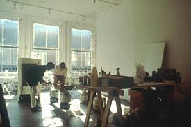 A photograph inside a studio.