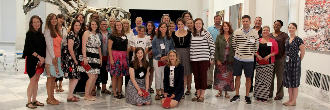 This is a photo of teachers that participated in the Teacher Institute at the Smithsonian American Art Museum.