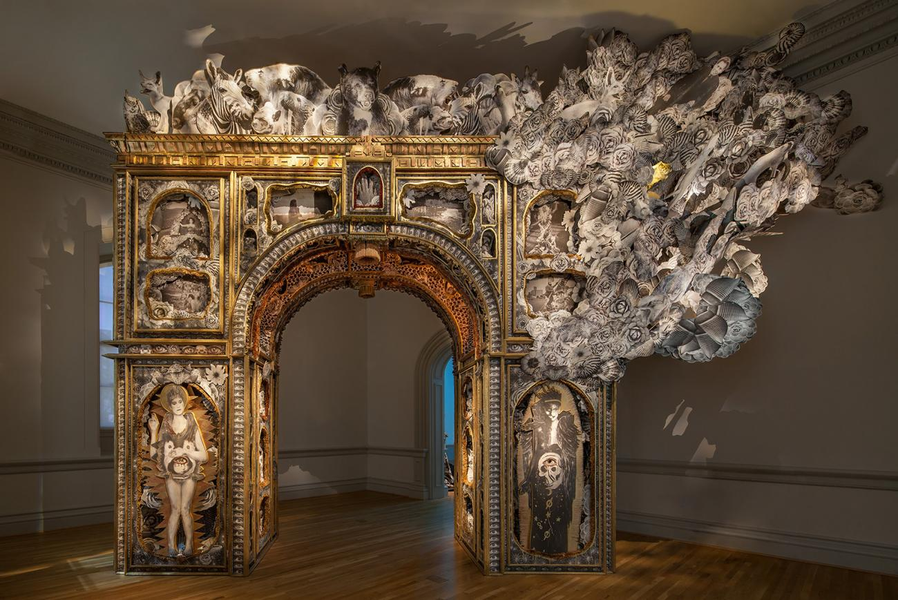 This is an image of an arch created by Michael Garlington and Natalia Bertotti at the Renwick Gallery.