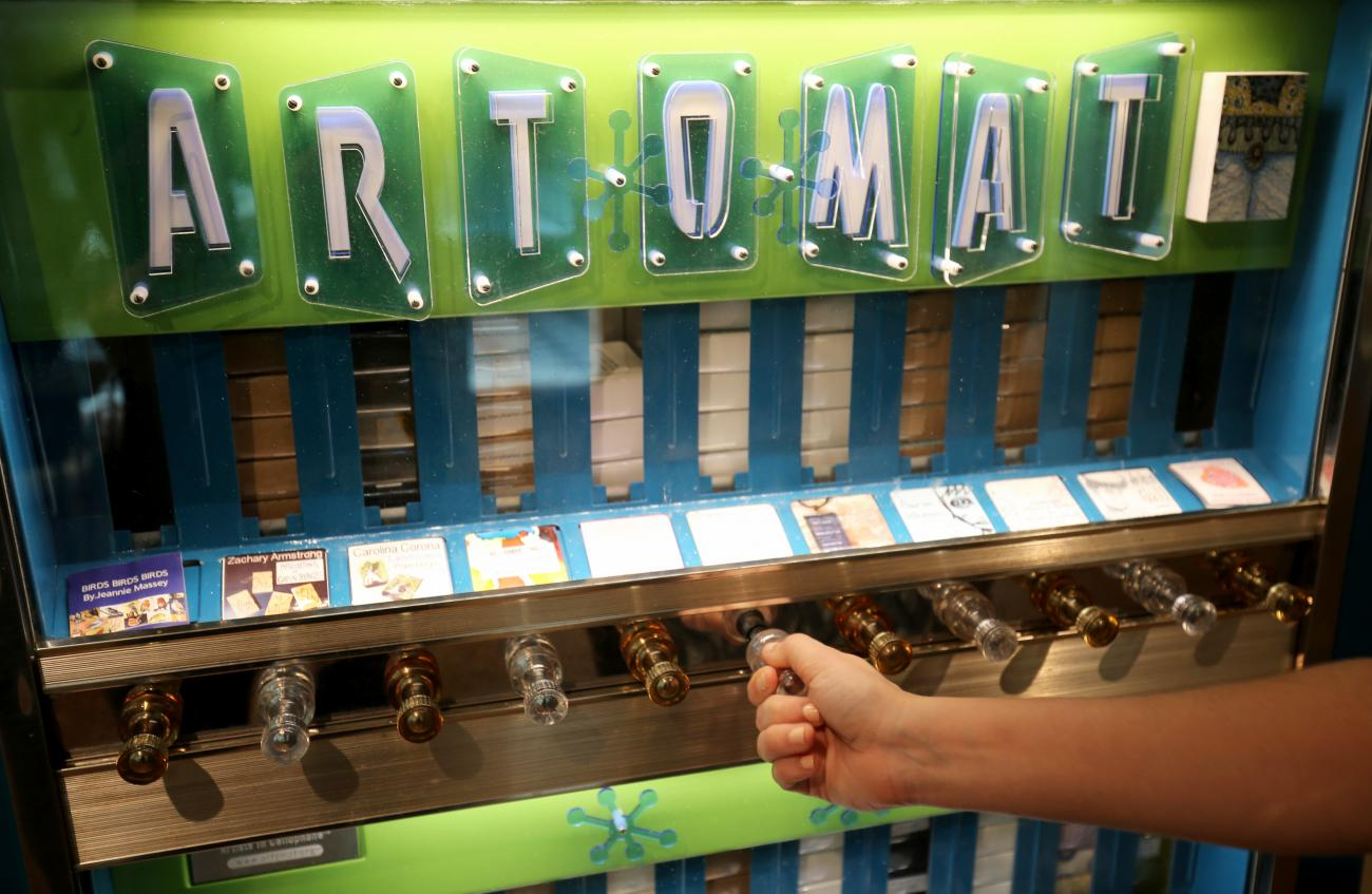 A picture of the Art-o-Mat machine in the Luce Foundation Center.