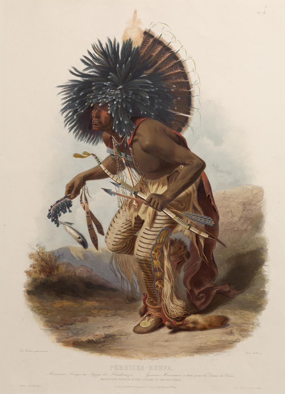 A painting of a man dancing.