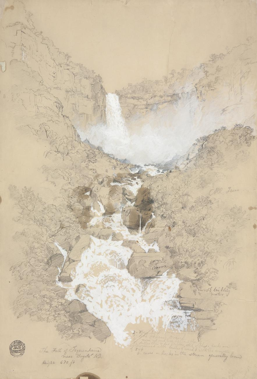 A sketch of a waterfall