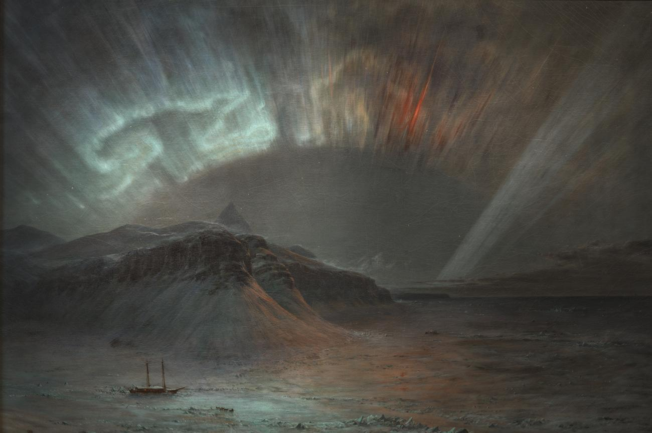 A painting of the Northern lights