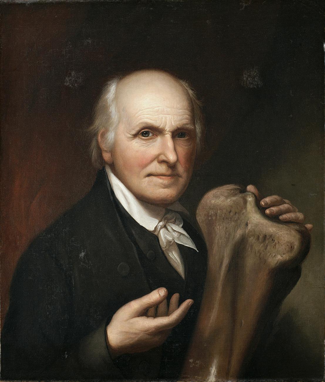 A portrait of a man sitting.