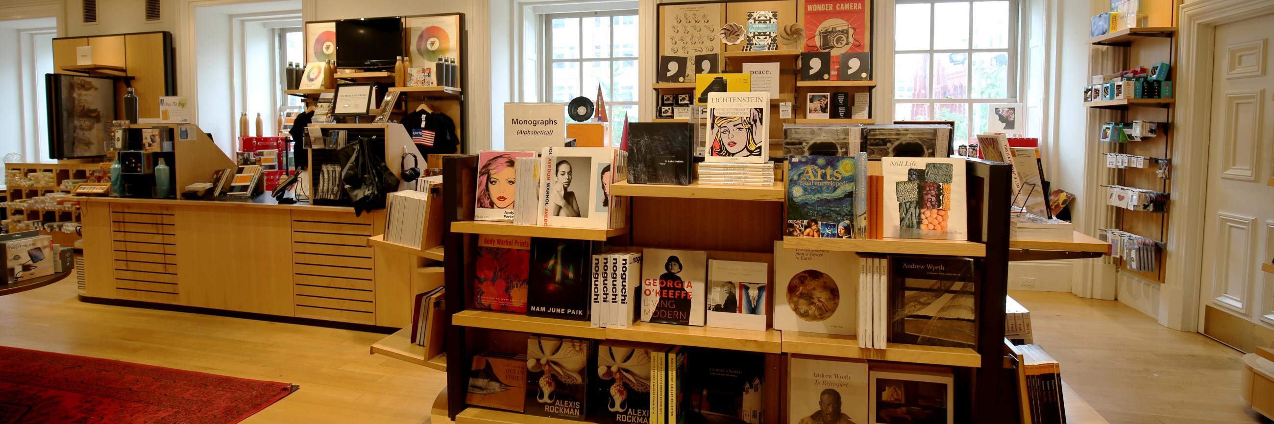 An image inside the gift shop at the Smithsonian American Art Museum.