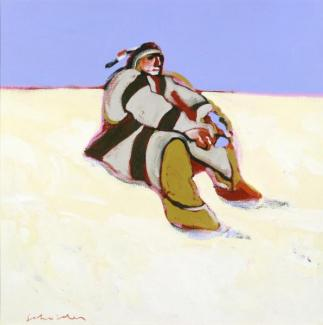 Indian in the Snow by Fritz Scholder