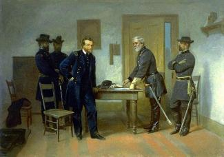 Lee Surrendering to Grant at Appomattox by Alonzo Chappel
