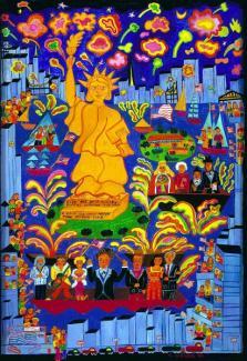 Miss Liberty Celebration by Malcah Zeldis