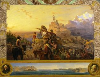 Westward the Course of Empire Takes Its Way (mural study, U.S. Capitol) by Emanuel Leutze