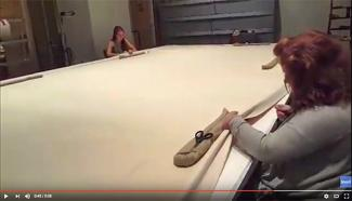 Splash Image - Art Conservation: Stretching a Very Large Gene Davis Painting