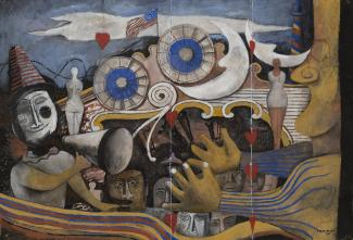 Exhibition - Tamayo Rufino Tamayo, Carnival [Carnaval], 1936, gouache on paper, 15 x 22 in. Smithsonian American Art Museum, Museum purchase through the Luisita L. and Franz H. Denghausen Endowment, 2017.22 © Tamayo Heirs/Mexico/Licensed by VAGA, New York