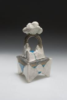 Wayne Higby's Triangle Springs made from glazed earthenware.