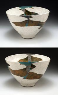 Wayne Higby's White Terrace Gap made from glazed earthenware.