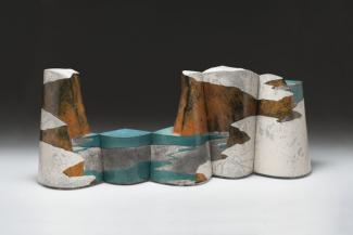 Wayne Higby's Pictorial Lake made from glazed earthenware.