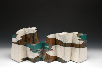 Wayne Higby's Temple's Gate Pass made from glazed earthenware.