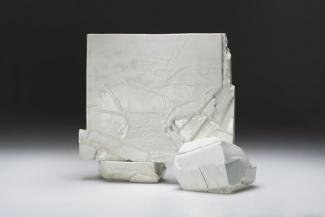 Wayne Higby's Lake Powell Memory made from glazed porcelain.