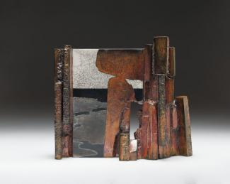 Wayne Higby's Stone Gate made from glazed earthenware.