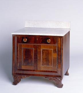 A mahogany French style washstand.