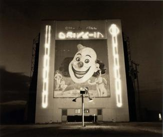 A photograph of a Drive-in Theater in Texas.