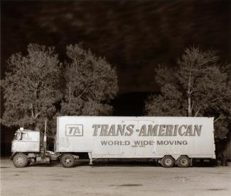 A photograph of a truck in California.