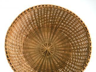 A basket that resembles a large bowl.