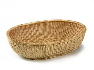 A long oval basket.